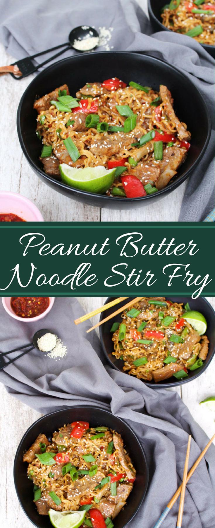 Peanut Butter Asian Noodle Stir Fry Stir Fry Asian Recipes