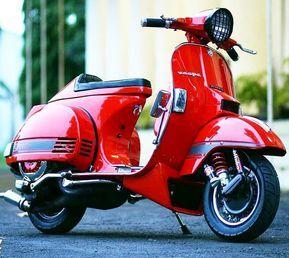"vespa px on Instagram: ""Red Vespa PX custom modified racer style #Vesparacing #customvespa #modifiedvespa #redvespa @hawari_64"""