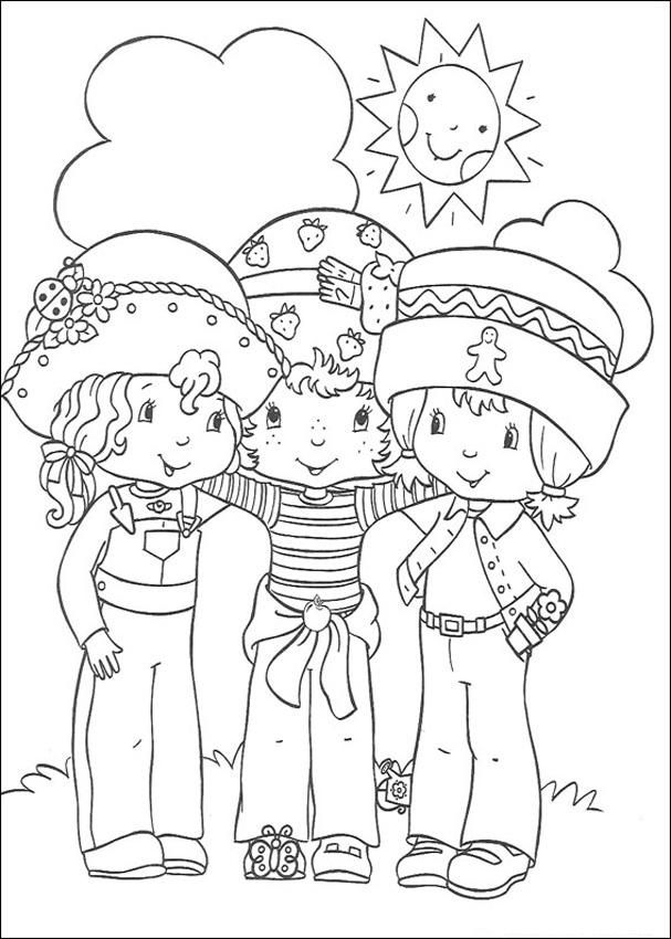 strawberry shortcake and friends colouring pages - Friends Coloring Pages