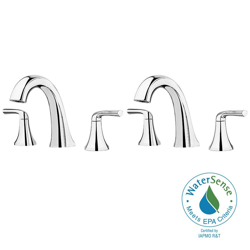 Pfister Ladera 8 In Widespread 2 Handle Bathroom Faucet In Polished Chrome 2 Pack Lf049lrccm Pfister Bathroom Faucets Faucet