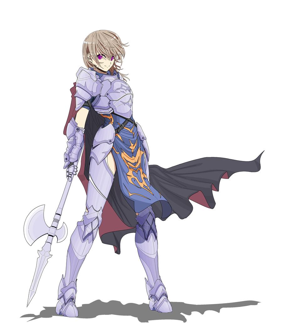 Female Spear Knight Fantasy Character Design Anime Knight Character Design
