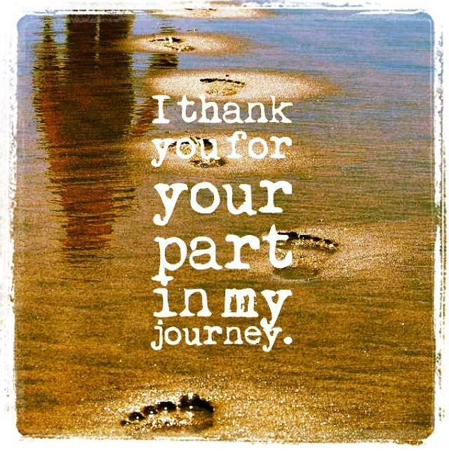 Best Part Of The Day Quotes: I Thank You For Your Part In My Journey
