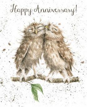 'Anniversary Owls' Anniversary card