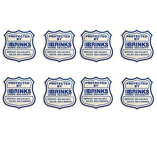 8 Home Security Stickers Window  Door Decals ** You can get additional details at the image link. (Note:Amazon affiliate link)