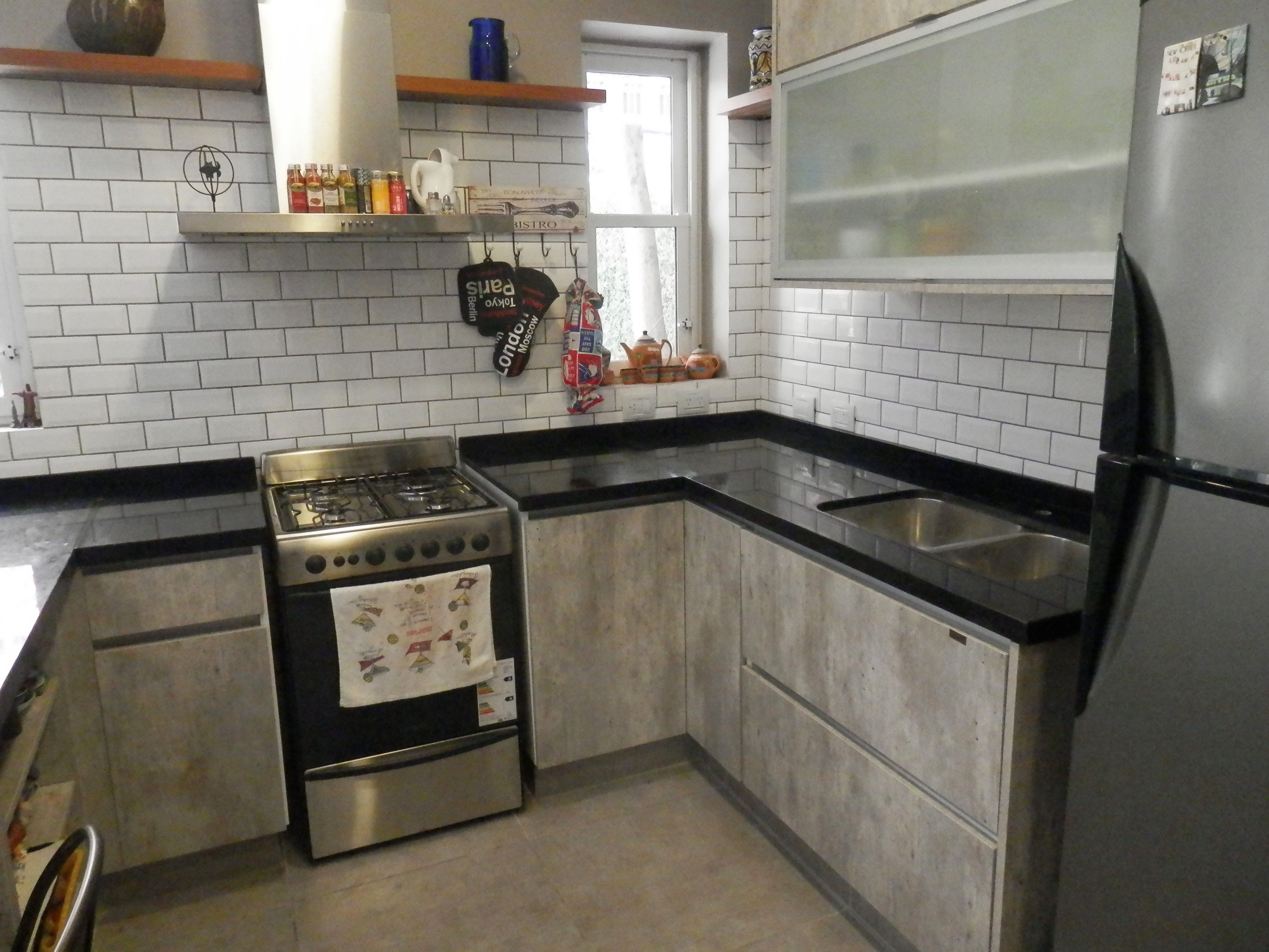 Proyecto De Estilo Industrial Realizado Junto Al Arquitecto  # Muebles De Cocina Faplac