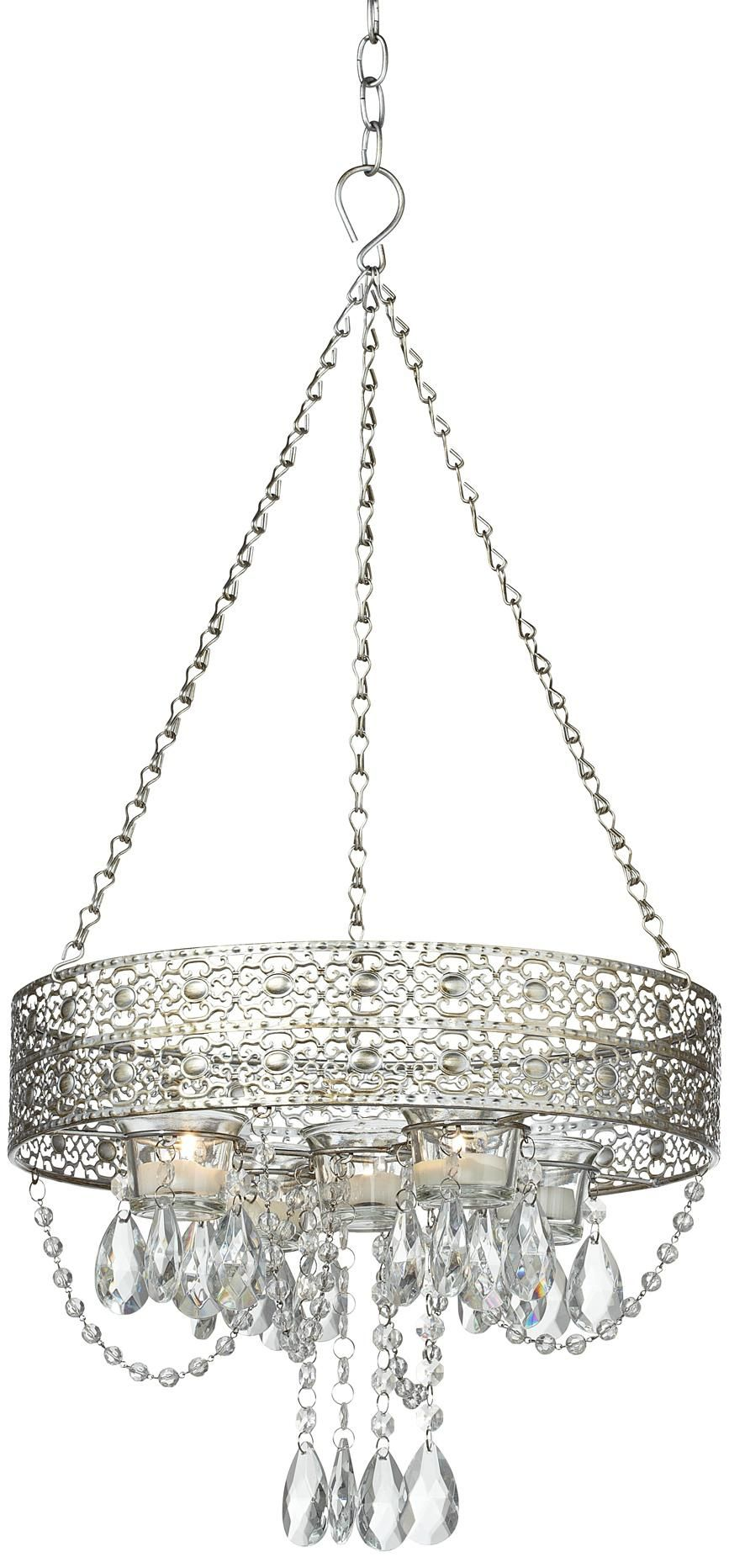 Votive hanging antique silver candle holder wedding stuff