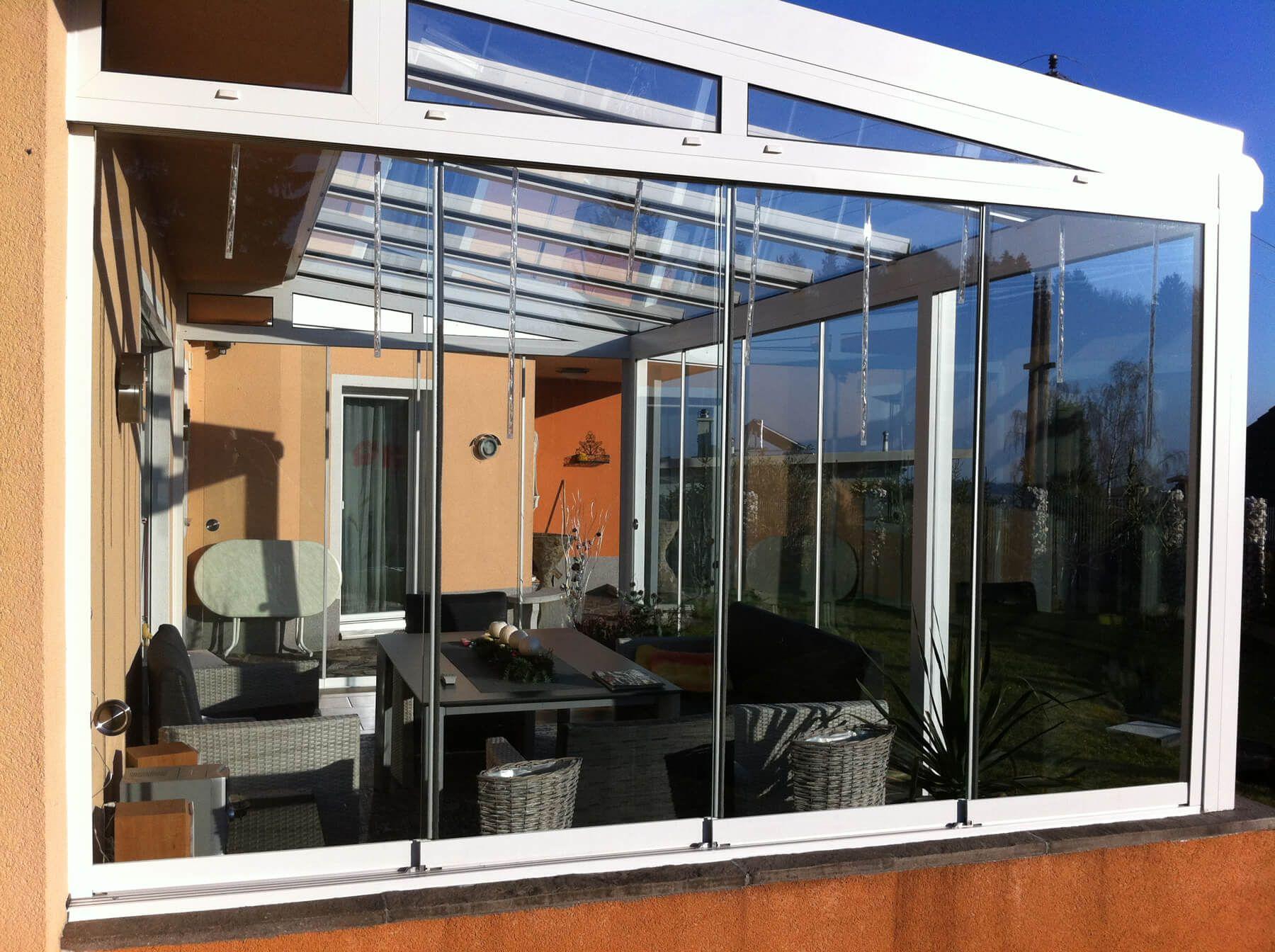 Glasschiebewand Aussen Fur Wintergarten In 2018 Garten Ideen