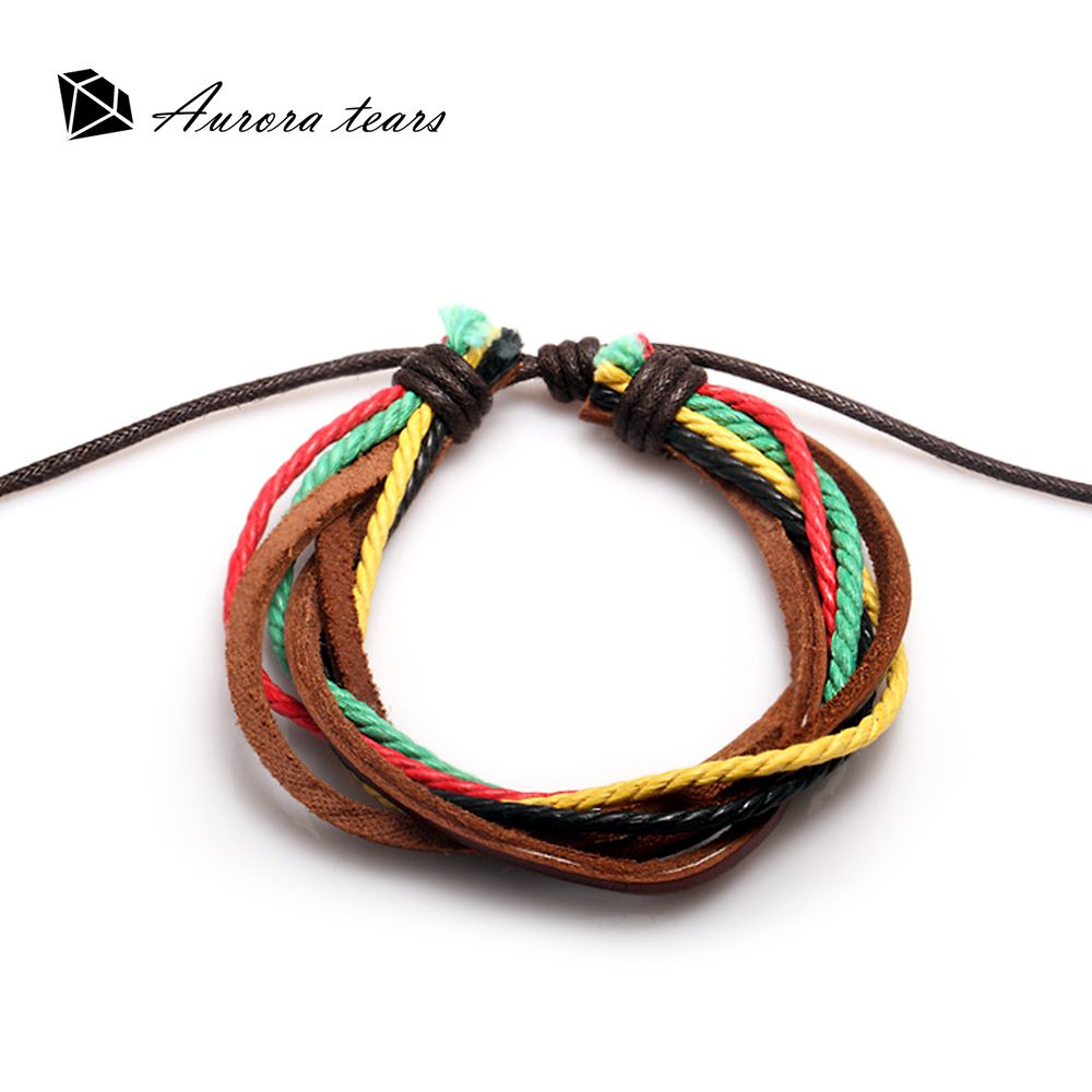 Leather bracelet for charms multilayer leathers bracelets fashion
