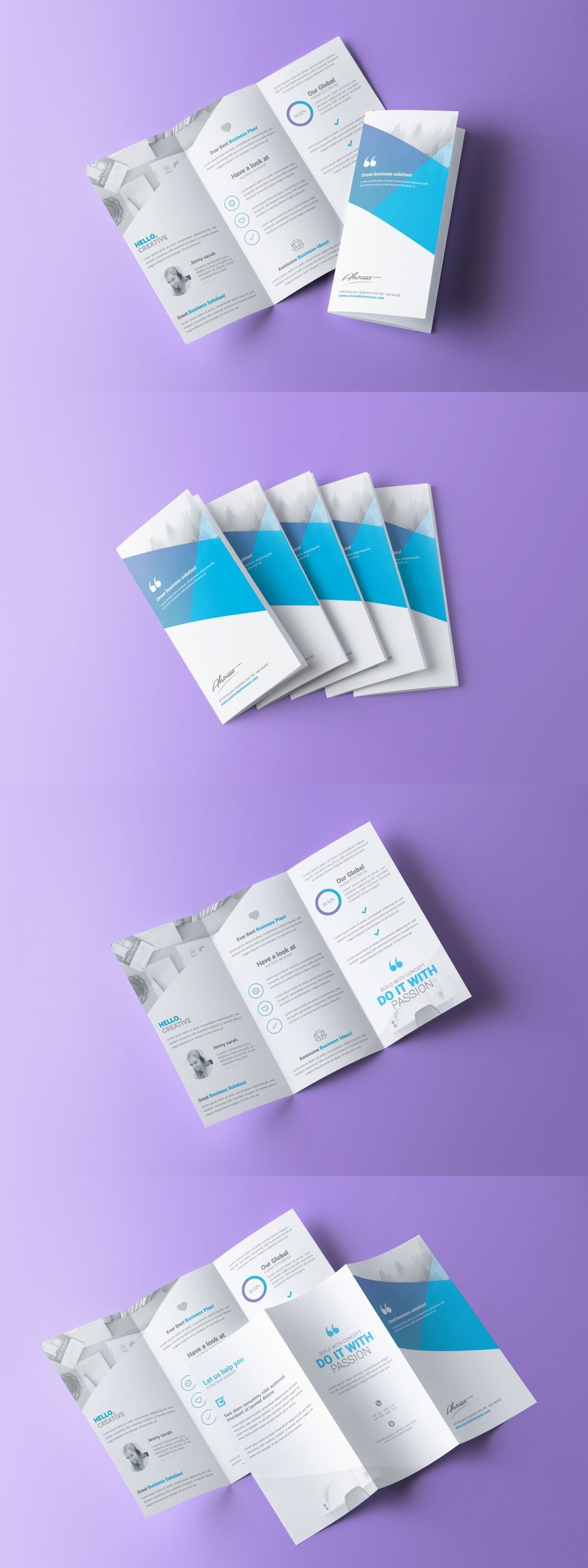 Multipurpose TriFold Brochure Template Psd  Brochure Templates