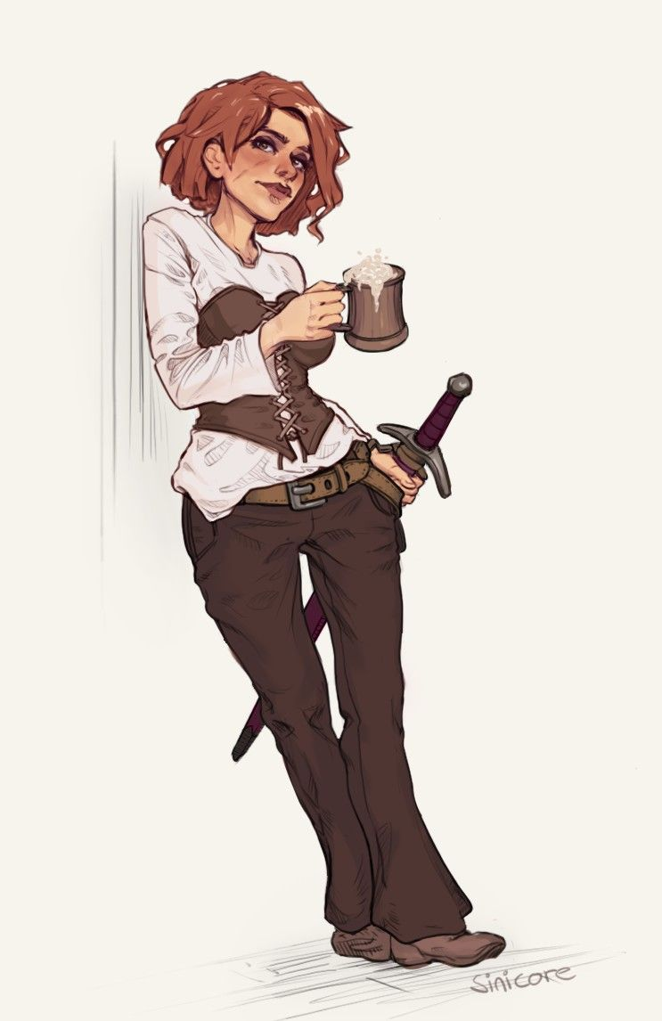 Halfling Dungeons And Dragons Female Character Drawings Fan Art