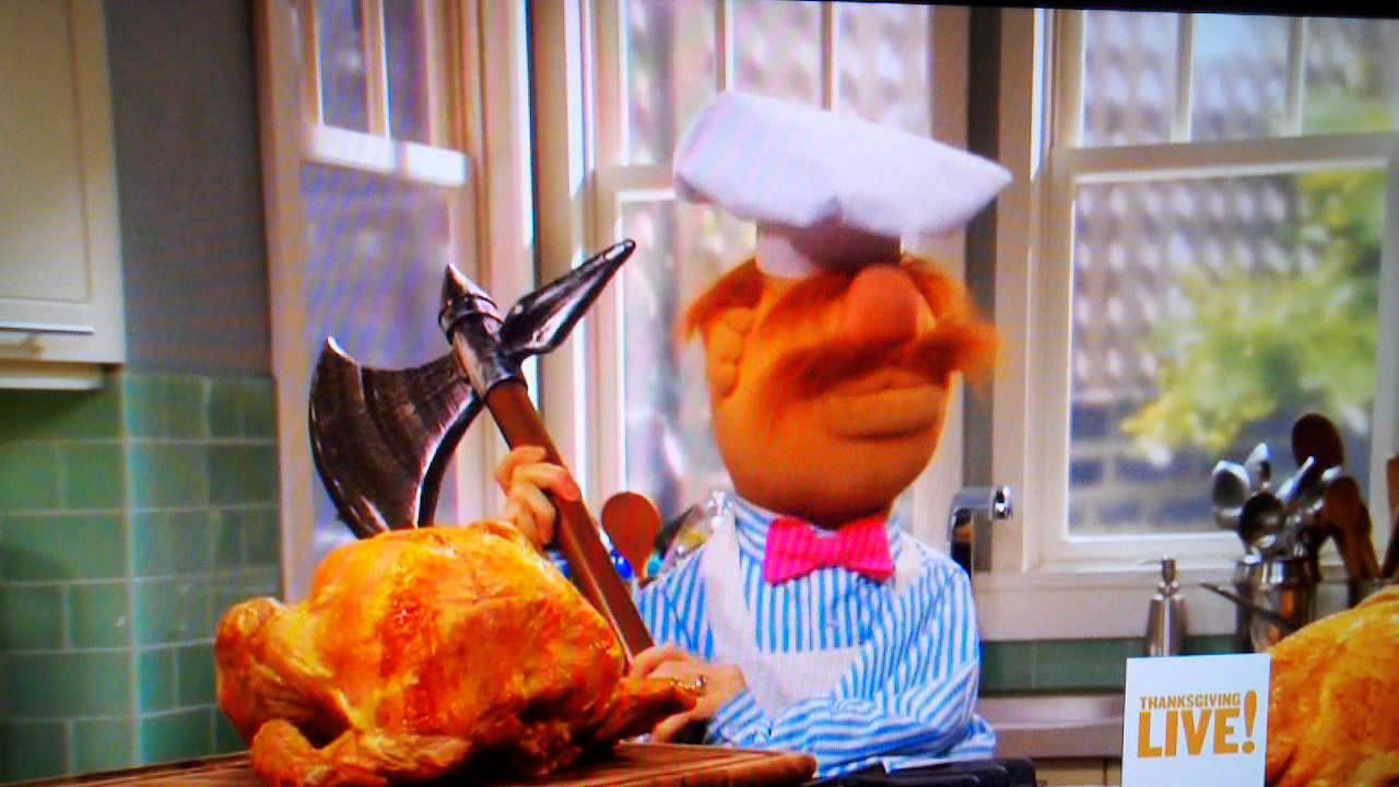 The Muppets Swedish Chef on Thanksgiving Live on Food