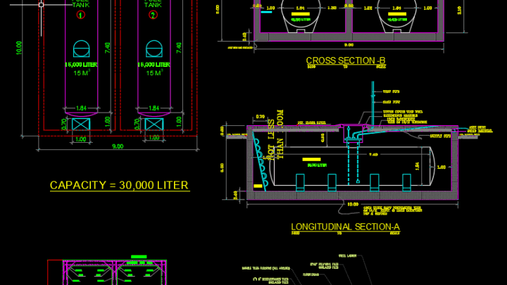 Fuel Tank Details Autocad Drawing   Autocad Free DWG