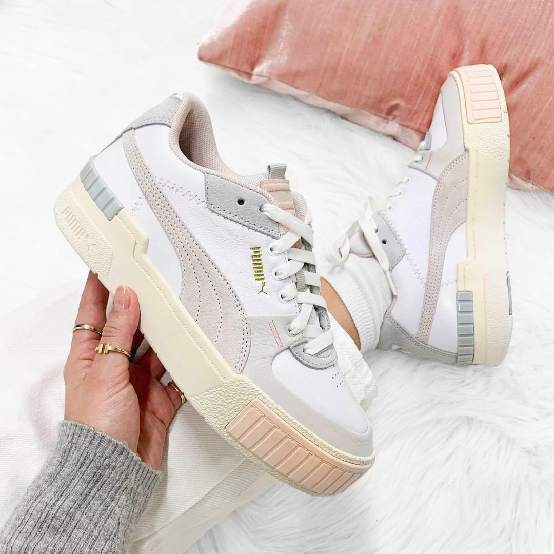 Puma Witte Lage Sneakers Cali Sport in 2020 Schoenen