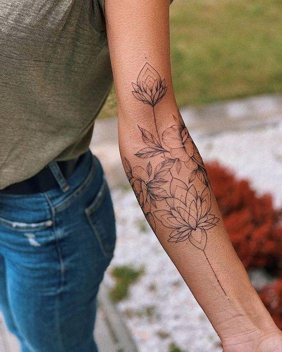 This is love ⠀⠀⠀⠀⠀⠀⠀⠀⠀⠀⠀⠀ #Let it be … #flowertatt … creative tattoo I …  #flowertattoos - flower tattoos