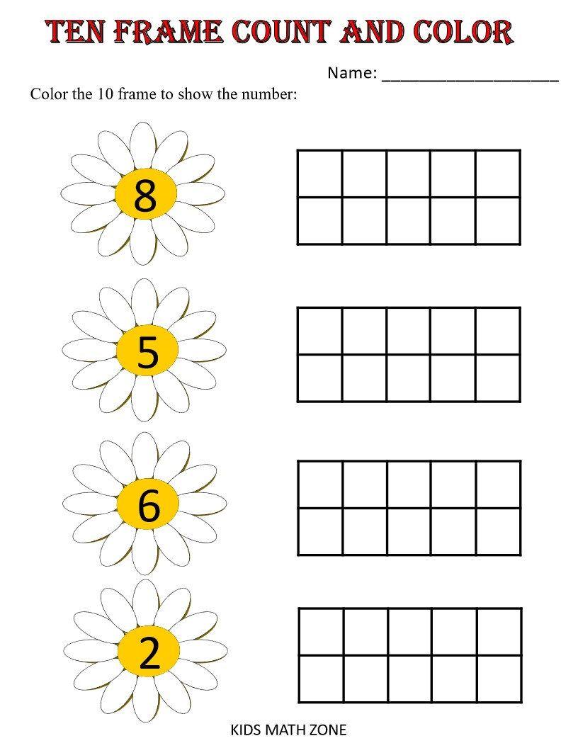 Ten Frame Counting And Match Numbers Printable Worksheets Kindergarten Pre K Pdf Pres Ten Frame Kindergarten Worksheets Kindergarten Worksheets Printable [ 1056 x 816 Pixel ]