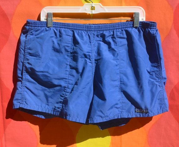7a675a5a4fd24 vintage 80s PATAGONIA baggies shorts bathing suit swim trunks royal blue  Medium Large beach surf preppy by skippyhaha