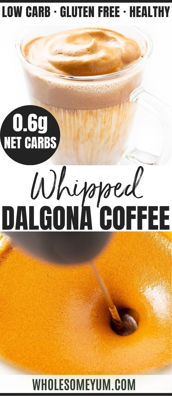 Keto Whipped Dalgona Coffee Recipe (TikTok Coffee) in 2020