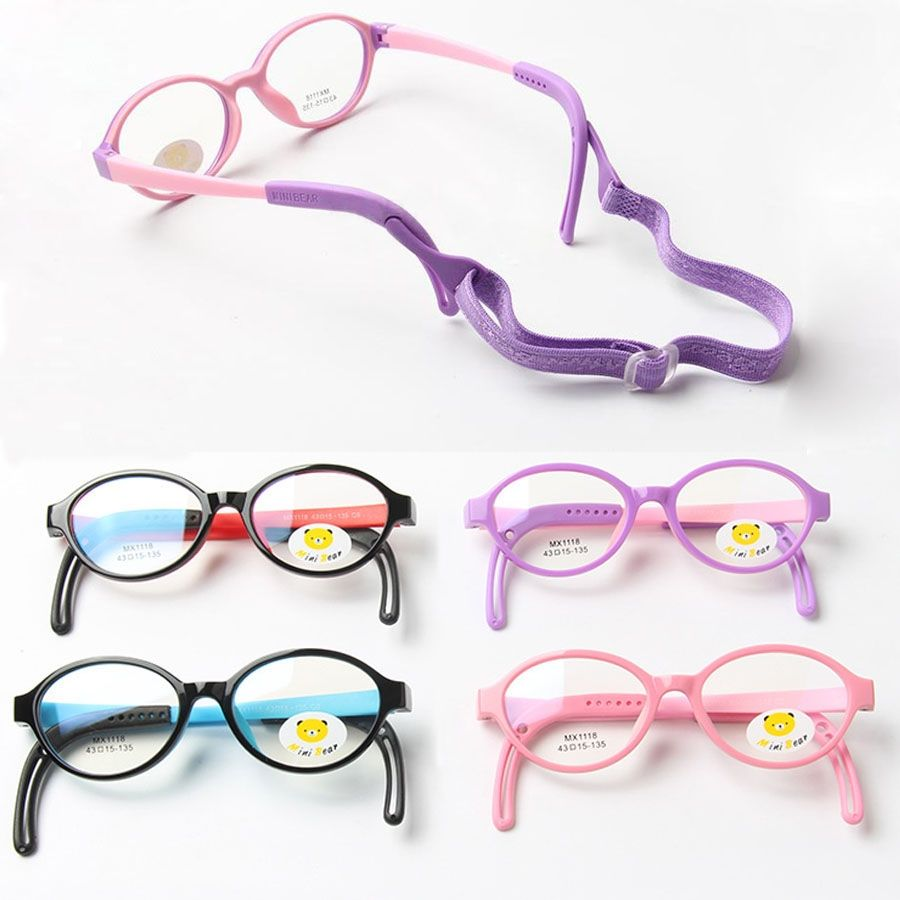 3530c131f7 New Cute Kids TR90 Rubber Eyeglasses Frame High Quality Boys Girls Safe Reading  Glasses Frames Optical Eyewear glasses cord