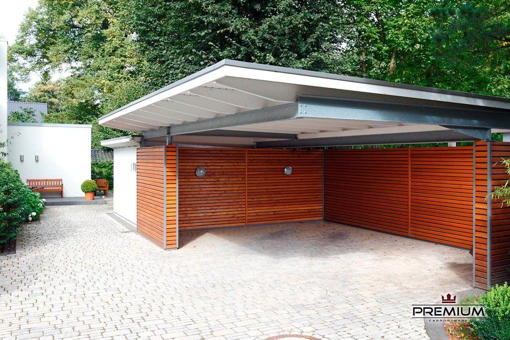 groes carport mit nische und schuppen wei holz carport patio carport garage
