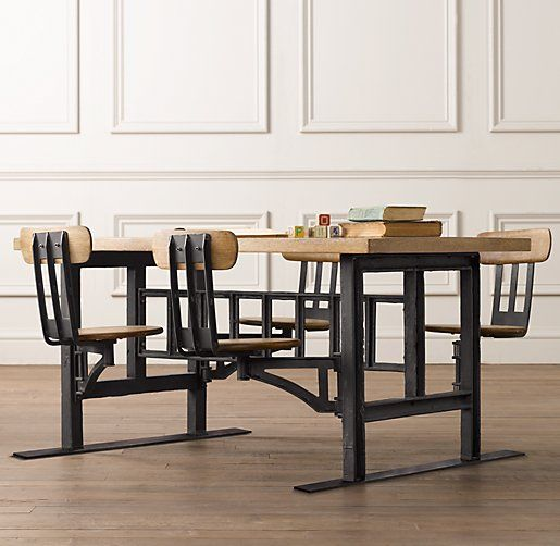 Rooms Restoration Hardware Baby Child Cafeteria Table