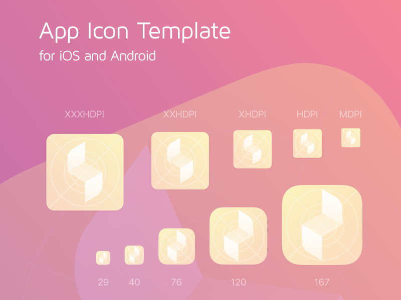 iOS and Android App Icon Generator Sketch freebie