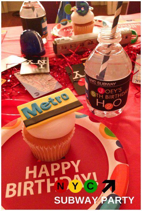 NYC Subway Train Birthday Party