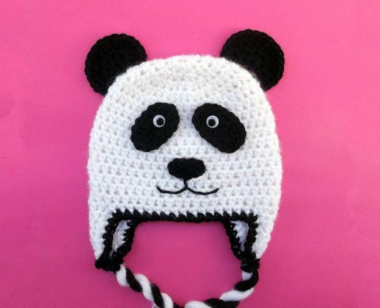 Panda Bear Hat 7 Sizes Newborn To Adult Crochet Panda Bears And