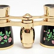 A Flawless Enamel Opera Glasses with Original Case and Box