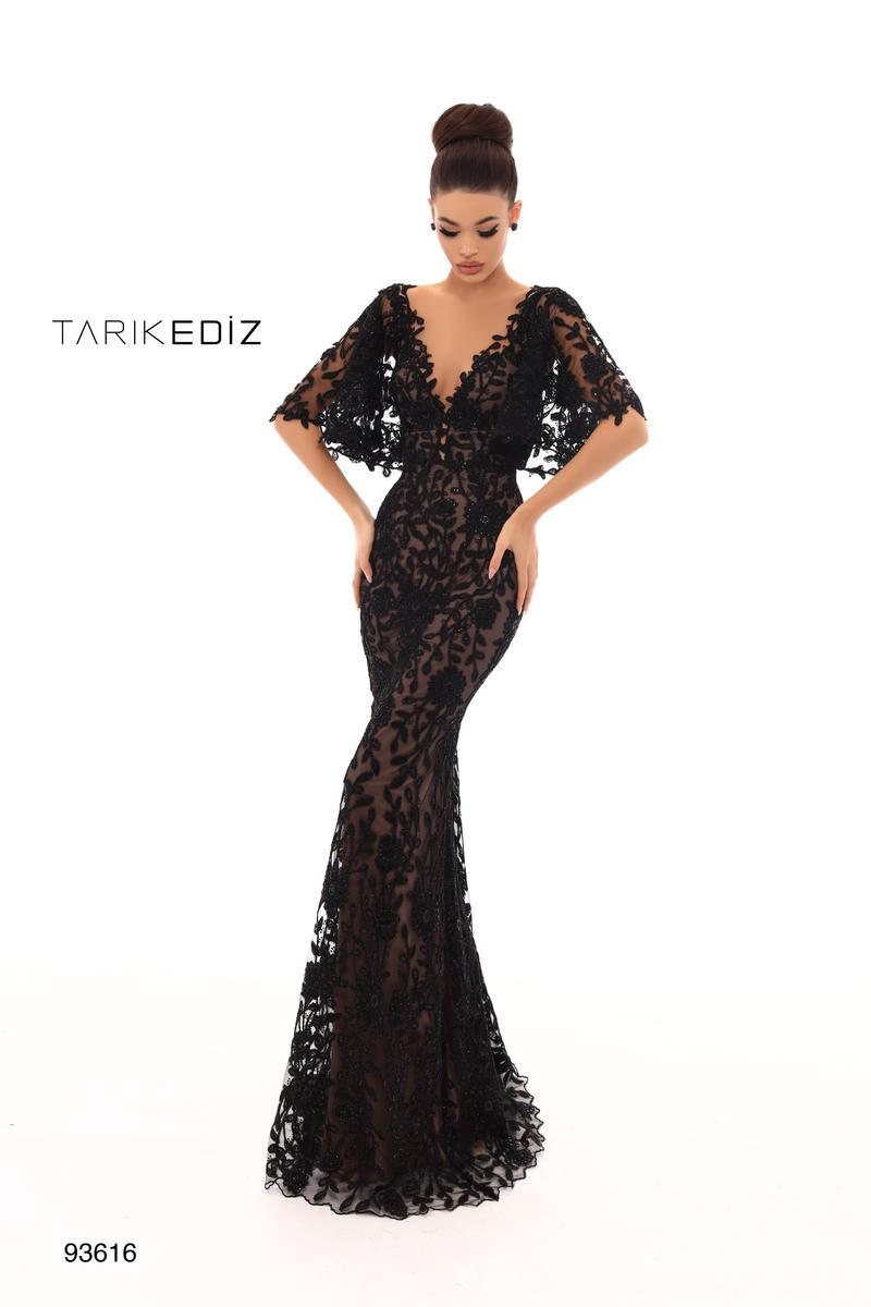 Tarik Ediz 13 in 13  Lace evening dresses, Mermaid evening
