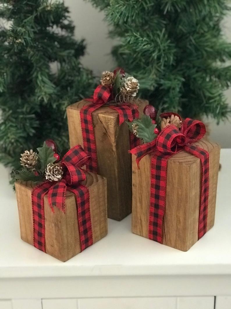 Wood Christmas Presents | Etsy