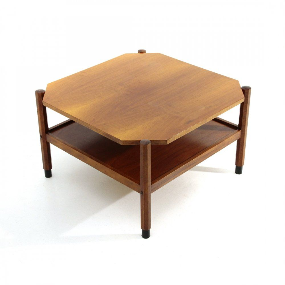 For Sale Midcentury Square Teak Coffee Table 1960s