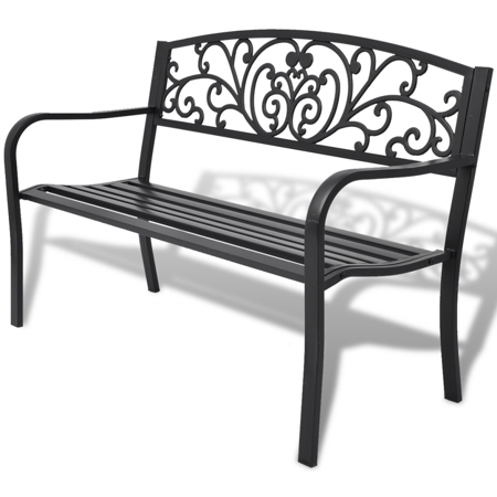 Patio Garden Metal Outdoor Bench Outdoor Furniture Iron Bench