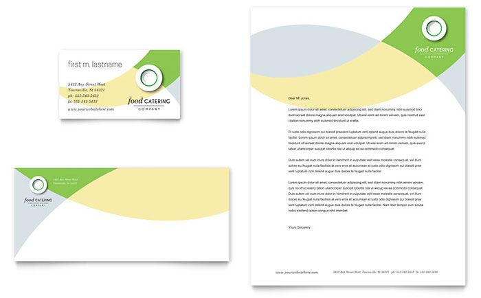 Food Catering Business Card And Letterhead Template Design By