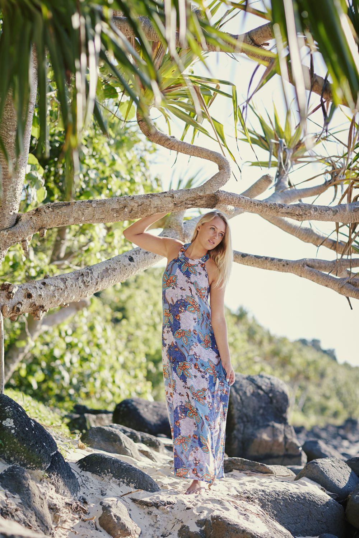@elliejeancoffey seeking solitude in the Tahiti Maxi dress