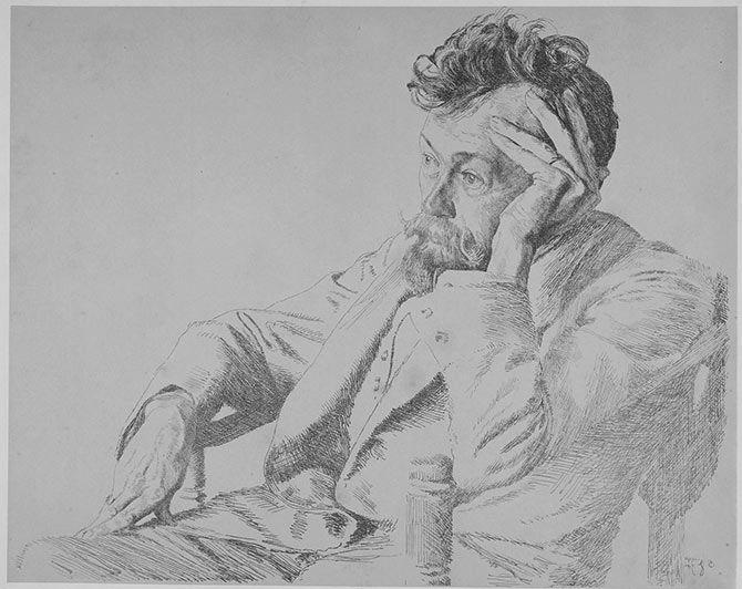 Otto Greiner | Ritratto del professor Paul Horst-Schulze a Lipsia, on Galleria dell'Incisione.