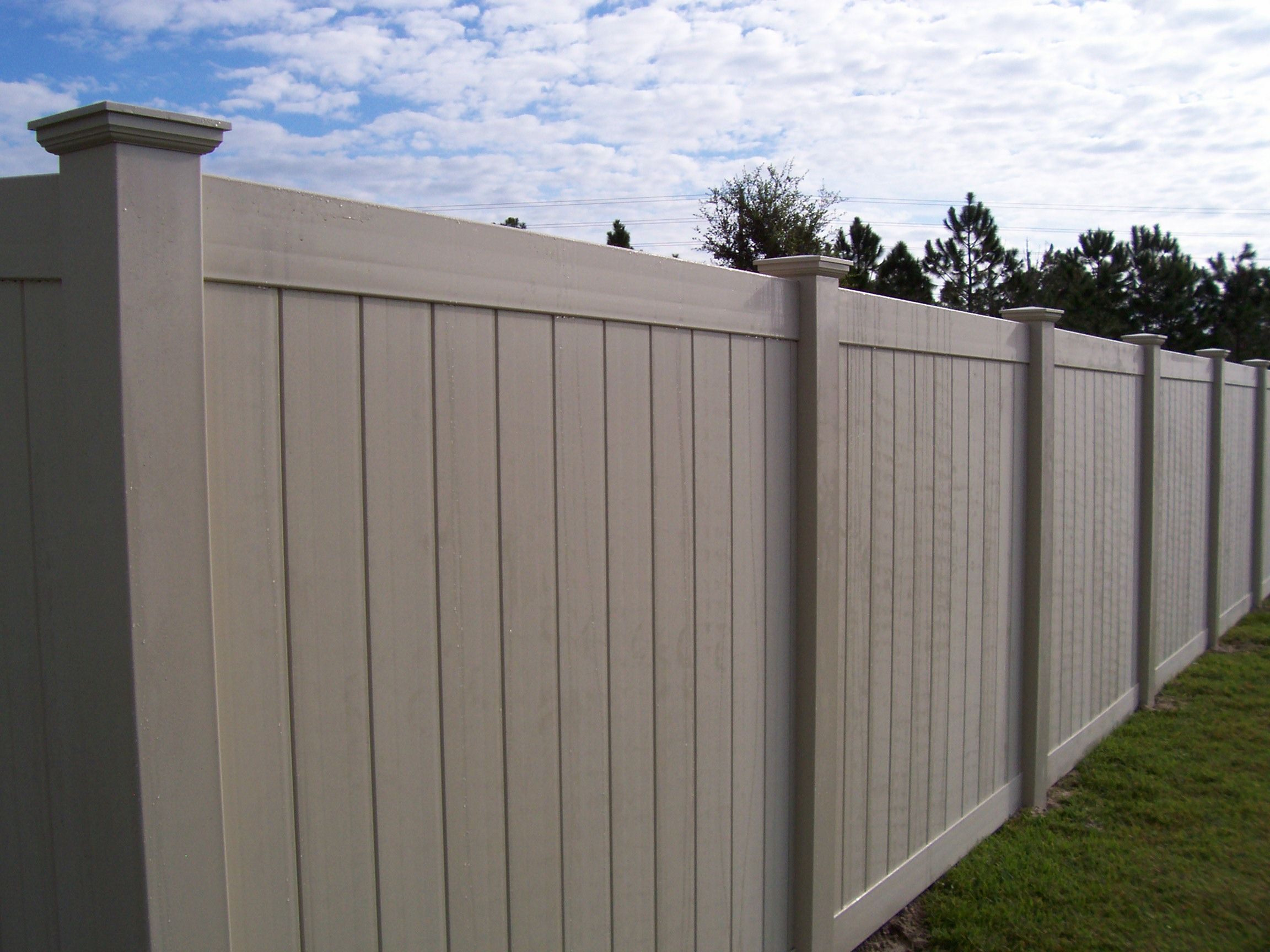 With Color Vinyl Fences Vinyl Fence Vinyl Fence Company