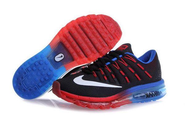 reputable site 06b96 67338 Mens Cheap Nike Air Max 2016 Red Black Blue Korea
