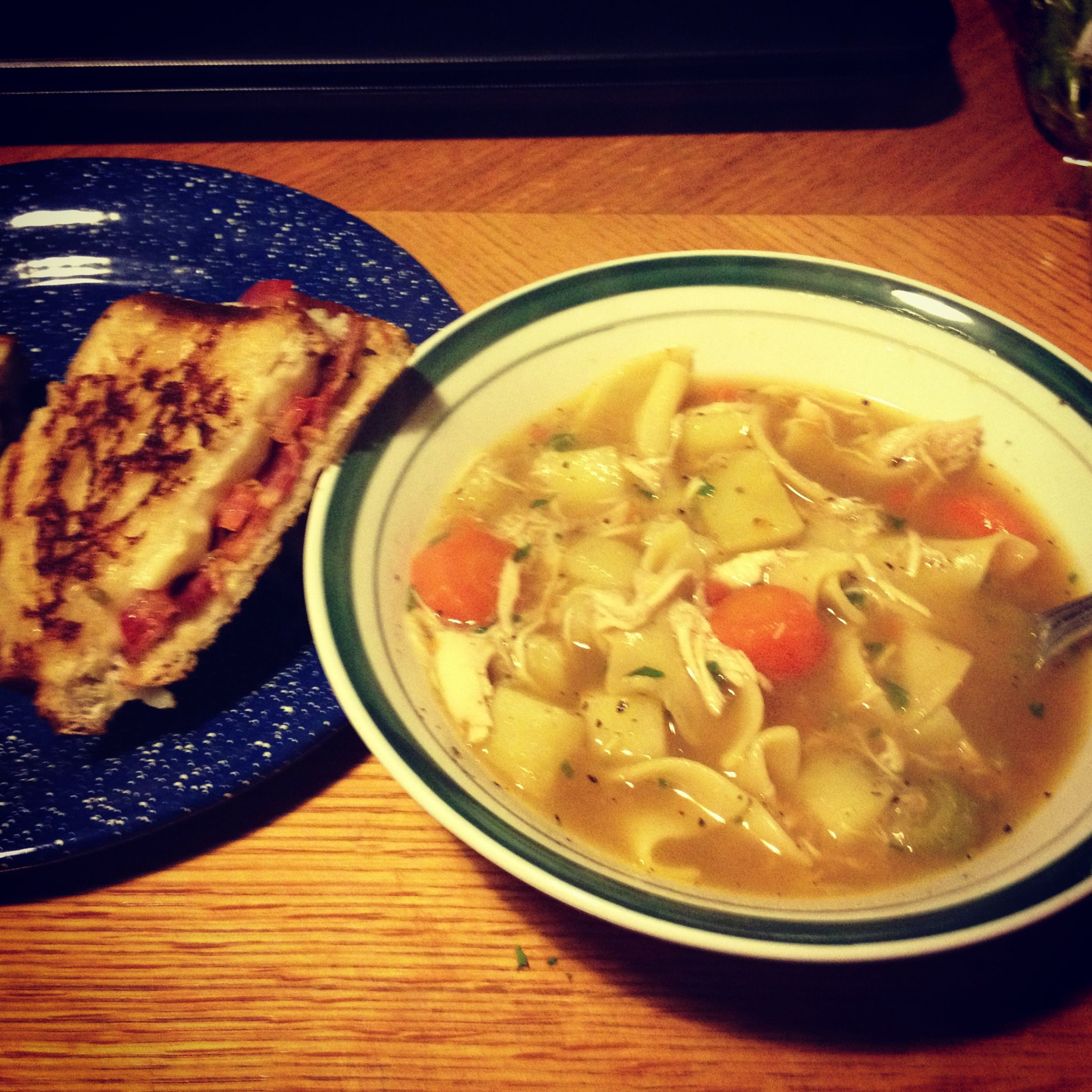 #homemade #chickennoodlesoup  #BTC #Bacontomato #americancheese #muenster cheese