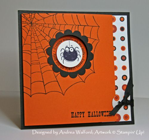would be cute with the dry embossed spider web!