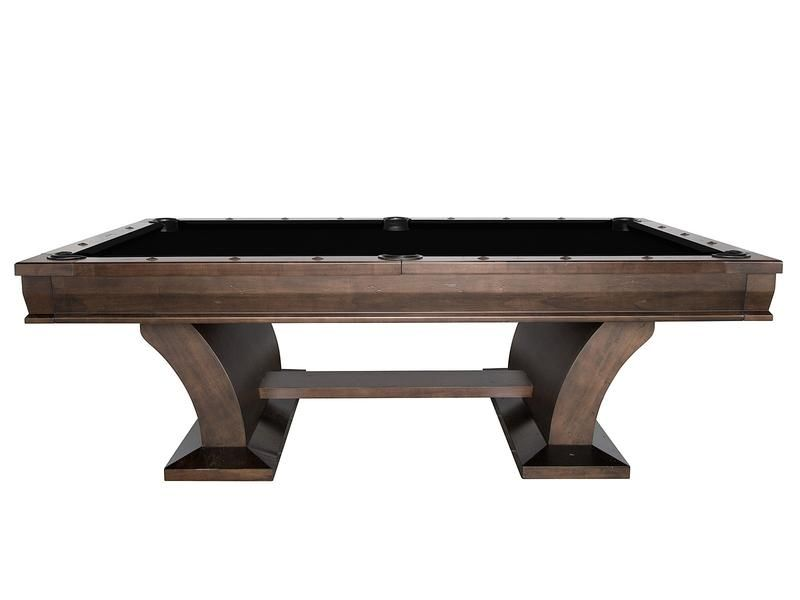 Plank And Hide Paxton Pool Table Side Stone Stock Pool Table - Stone pool table