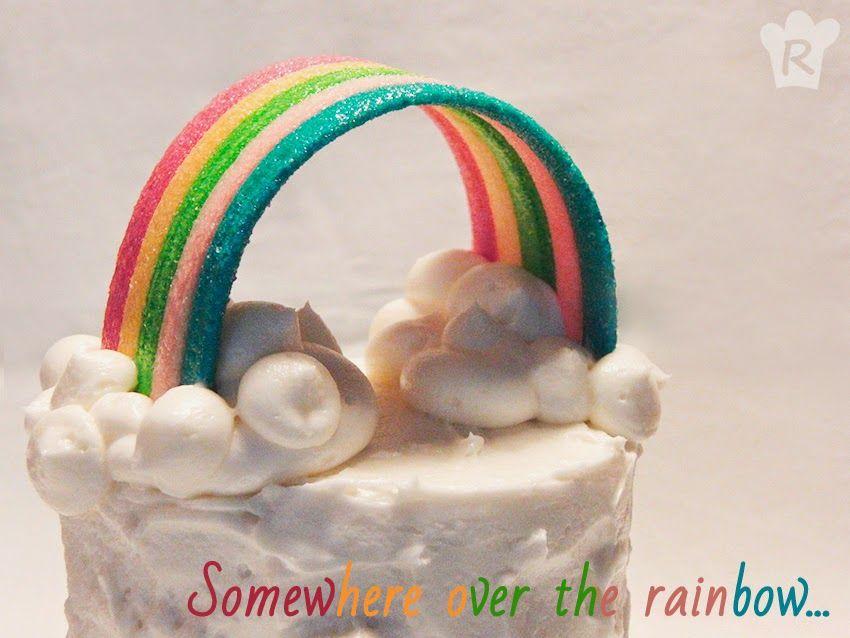La cocina de Rebeca: Tarta arcoíris {Una galleta, un cuento: El mago de...