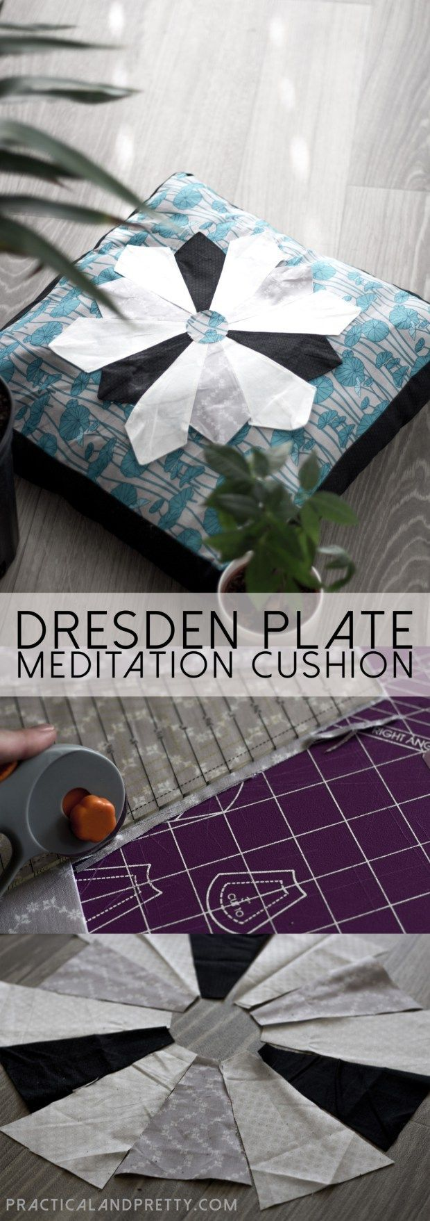 Diy dresden plate meditation pillow sewing crafts u projects
