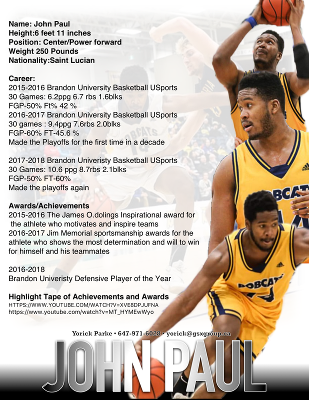 Basketball Men Sports Resumes More Basketball Power Forward Men