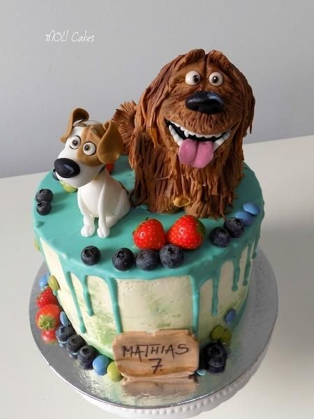 Secret Life Of Pets Drip Cake By Moli Cakes Drip Cakes Dog Cakes Cake