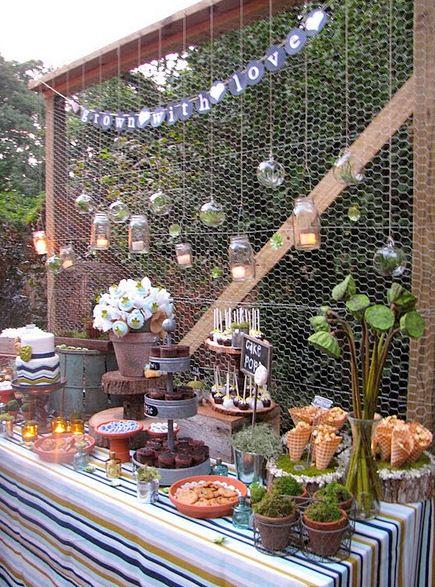 Spring Garden Planting Party Ideas Inspiration Rustic Garden