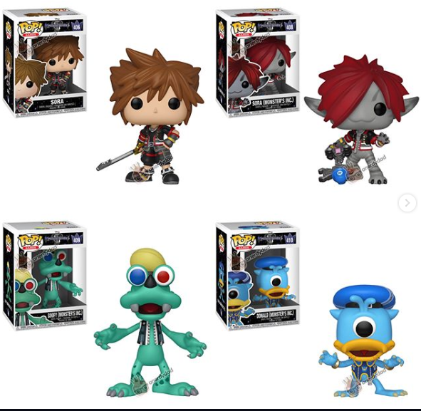 Funko Pop Kingdom Hearts Iii Sora And Monster Form Sora Donald And Goofy Have Been Revealed Kingdom Hearts News Kh13 Com Kingdom Hearts Funko Funko Pop