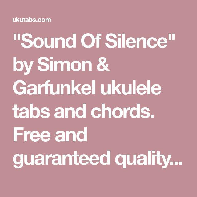 Sound Of Silence By Simon Garfunkel Ukulele Tabs And Chords Free