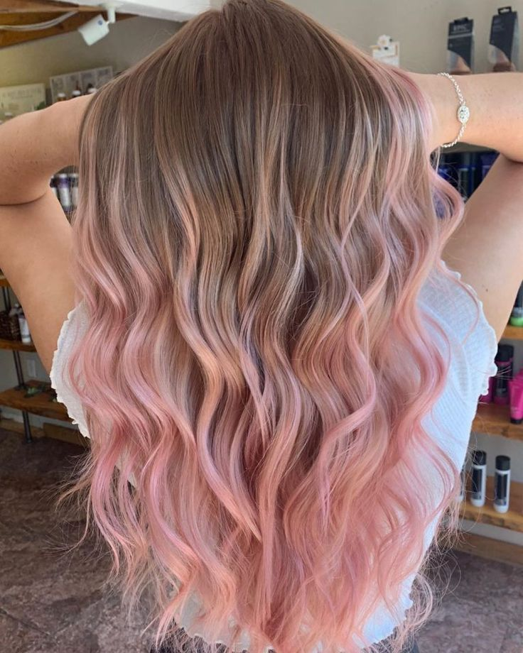 20 trendy long ombre rose gold color hair you can try -   12 hair Rose Gold make up ideas