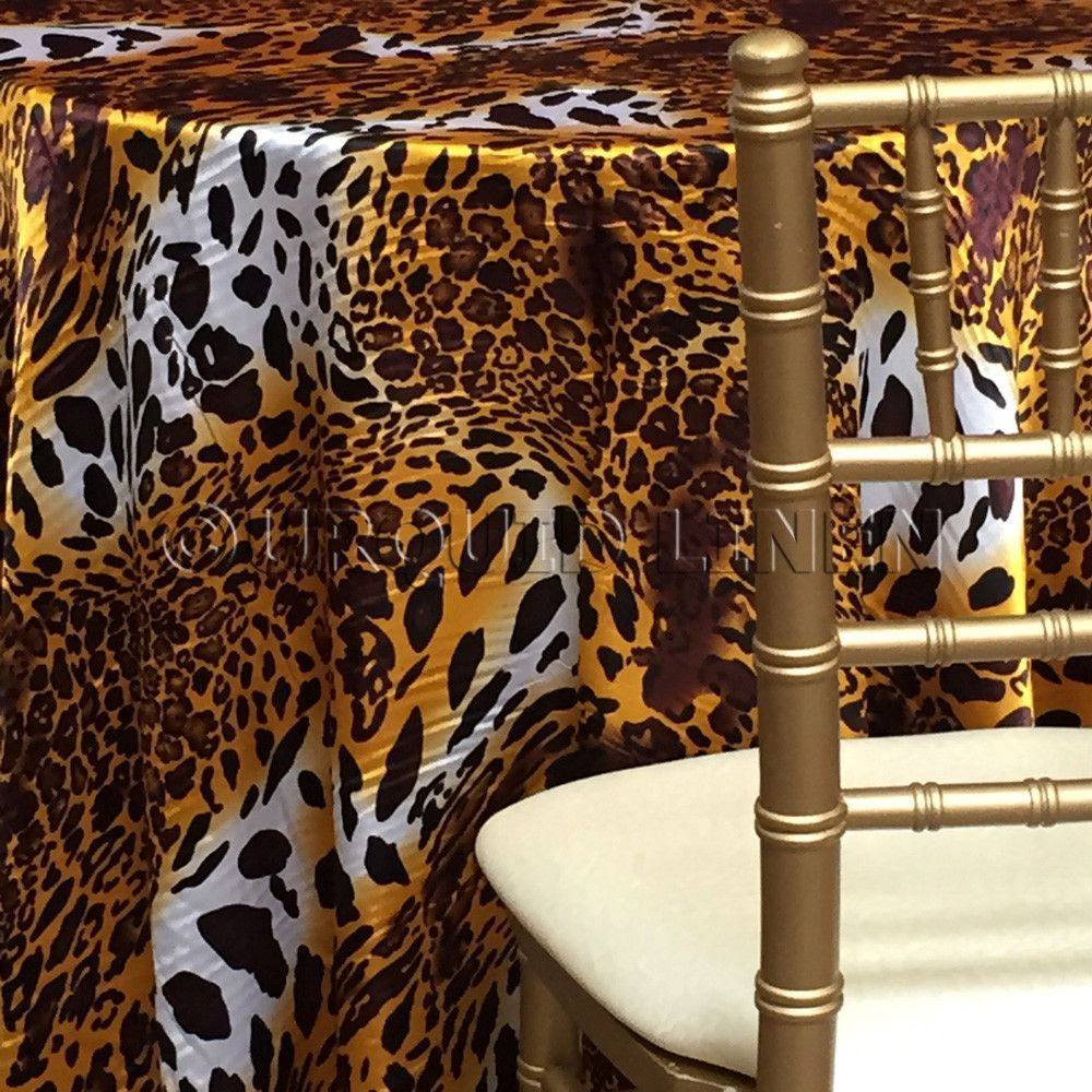 Elegant Our Specialty Leopard Print Tablecloth Is Printed On A Satin Fabric. More  Color And Size Options Available From Urquid Linen.