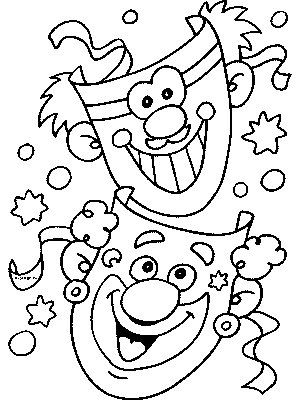 Carnival Coloring Pages Coloring Pages Carnival Crafts